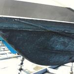 Décapage anti fouling - coque de bateau
