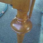 Décapage du vernis sur bois - Avant