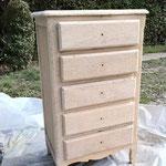 Décapage de peinture sur bois précieux - Après