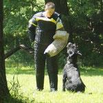 Schutzdienstvorführung mit Idefix