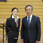 体操の神様 大会委員長 加藤澤男先生と記念撮影