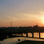 朝霞市の水門付近