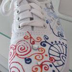 bemalte Schuhe