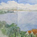 Bodensee - Blick von der Birnau nach Unteruhldingen
