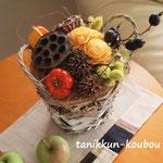 秋のナチュラルな実物アレンジ・ドライ