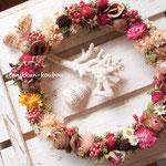 花のドライフラワーリース