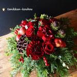 赤バラのクリスマスアレンジメント