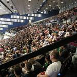 Die Halle ist fast voll bei Muster's letztem Match in der Wiener Stadthalle