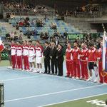 Alle Beteiligten der Daviscupbegegnung Österreich - Russland