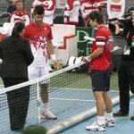 Los geht's: 1. Match zwischen Jürgen Melzer und Igor Kunitsyn