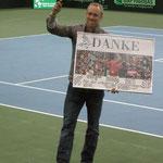 Stefan Koubek wurde für seine Daviscupverdienste offiziell verabschiedet!