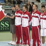 Team Austria (mit Fahnenträger Flo Wallner)