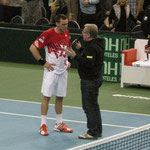 Ein Interview on court nach Andi's Sieg