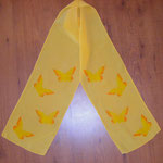 Yellow butterflies crepe de chine