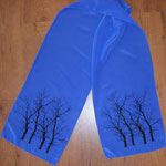 periwinkle blue trees satin