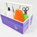 """Tragekorb """"lila-Schmetterling"""", Preis: 24.- EUR zzgl. Versandkosen, mehr Details unter: http://de.dawanda.com/product/60653403-Tragekorb-Utensilienbox-lila-Schmetterling"""