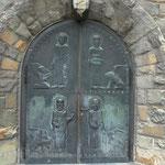 Hauptportal mit den 4 Evangelisten