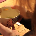start with a sip of tea and learn about the tea ceremony at the table