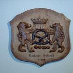Relief Wappen für Bäcker aus Lindenholz