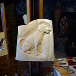 Relief Hund, roh