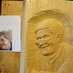 Relief Linenholz Porträt