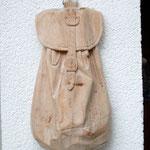 Rucksack aus Zirbenholz, roh