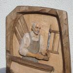 Relief Tischler Lindenholz (Porträt)