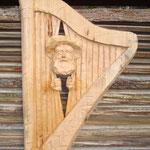 Relief Kliesche aus Lindenholz, roh