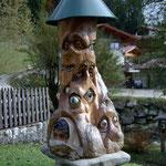 Augenbaum aus Fichtenholz, coloriert