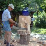 Beginn einer Almfahrt in Zirbenholz