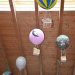 Landung der Fesselballons in der Schillerschule.