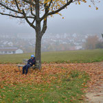 Sascha genießt die Herbststimmung.