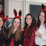 Familie Rabbit auf der Party.