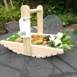 A lovely trug filled with homegrown produce
