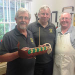Andy, Dennis and Eric, with the model of the Viking Ship
