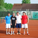 Herren-Finale von links: Michael Felber, Nick Bromm, Manuel Zipperlen, Tobias Zipperlen
