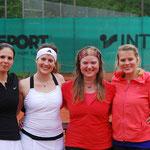 Damen-Finale von links: Sina Eisemann, Sina Voigt, Ingrid Voigt, Carolin Voigt