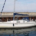 """Die """"Mistral"""" im Hafen von Hammerhavn"""