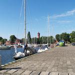 Im Hafen von Swinemünde  sauber günstig gut