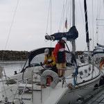 Simrishamn im Hafen