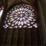 Rosettenfenster der Kirche Saint Nazaire in Carcassonne