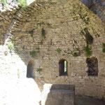 Apsis der Burgkapelle auf Peyrepertuse