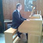 Gilbert Stein an Kreuzkirche Mallendarer Berg (eigenes Foto)