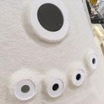Perçage des trous pour mise en place des jets de massage du spa caldéra