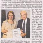Artikel in der Wetzlarer Neuen Zeitung vom 18.11.2009