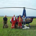 Hubschraubertraining für Rettungshundeführer