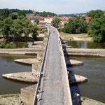 Regensburg: Steinerne Brücke, Blick nach Stadtamhof