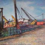 飾磨港と重機