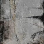 "Bild ""Moon Rock"", Größe 120 x 240 cm, Acryl, Kohle, Steinmehl, Sand auf Leinwand"