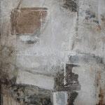 "Bild ""Orbit"", Größe 80 x 100 cm, Acryl, Kohle, Steinmehl auf Leinwand"